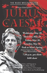 Julius Caesar production poster